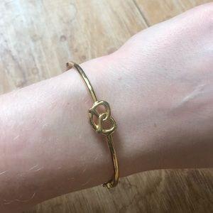 Kate Spade Gold pretzel bangle w/broken clasp